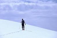 Skiing near Needle Peak, Coquihalla Summit Cascade mountains, British Columbia, Canada