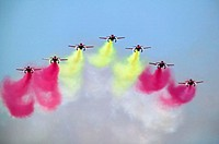 Patrulla Águila, Spanish Air Force aerobatic demonstration team, Armilla airbase. Granada province, Andalucia, Spain