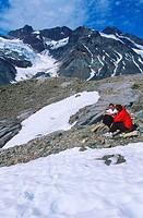 Coast mountain range, Klinaklini glacier meltwaters, British Columbia, Canada