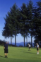 Qualicum Beach Memorial Golf Course, Overlooking Georgia Strait, Vancouver Island, British Columbia, Canada