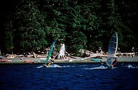 ACX-BCP03292 windsurferat Nitnat Lake Vancouver Island British Columbia Canada windsurferat Nitnat Lake Vancouver Island British Columbia Canada