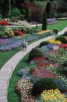 Butchart Gardens, sunken gardens, Victoria, Vancouver Island, British Columbia, Canada