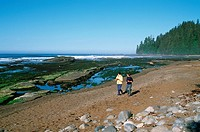 Pacific Rim National Park, west coast trail, beach at Darling River, Vancouver Island, British Columbia, Canada