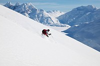 Skiing the Coast Mountains, British Columbia, Canada