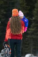 Family enjoying a winter day, British Columbia, Canada