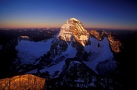 Aerial of Mount Assiniboine, British Columbia, Canada