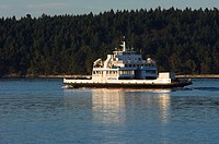 BC Ferry in waters of Georgia Strait, British Columbia, Canada