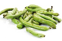 Broad beans, close-up