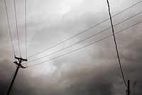 Hydro Lines and Stormy Sky