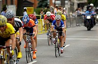 Cyclists in Time Trials for National Championship, Hamilton, Ontario