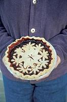 Holding a Homemade Pie