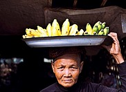 Old Woman with Bananas, Battambang, Cambodia