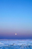 Moon over the Bay at Midnight, Cambridge Bay, Nunavut