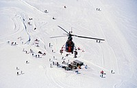 Sightseeing Helicopter above the Aletsch Glacier, Berner Oberland, Switzerland