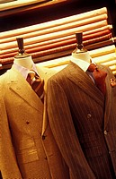 Department Store Mannequins Wearing Suits