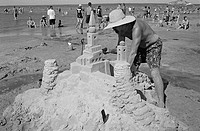 Annual August long Weekend Sand Sculpture Competition, Provincial Park, Manitoba
