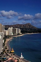 Waikiki Beach At Day