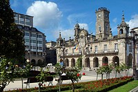 Lugo. Galicia. Spain. Main Square and Town hall. Baroque style.