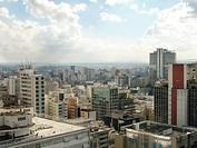 Aerial view of downtown, São Paulo, Brazil