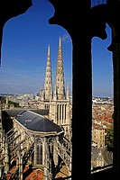 France. Gironde. Saint André Cathedral  from the Pey-Beland tower, Bordeaux.