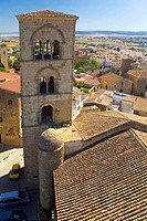 Bell tower of the church of Santa Maria la Mayor, Trujillo, Extremadura, Spain