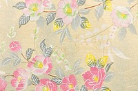 Japanese paper with camellia pattern