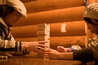 Couple Playing Jenga
