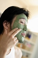 Man Wearing a Facial Mask