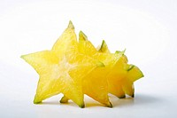 Sliced star fruits