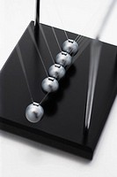 Newton´s cradle, high angle view