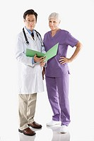 Doctor and nurse with file