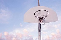 Basketball hoop, low angle view