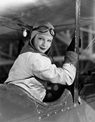 Portrait of female pilot All persons depicted are not longer living and no estate exists Supplier warranties that there will be no model release issue...