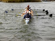 Full eight rowing