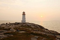 Peggy´s Cove lighthouse. Nova Scotia, Canada