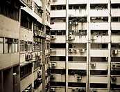 Interior courtyard. Hong Kong. China