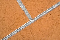Close-up of a white stripe on a wall