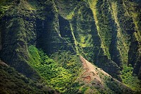 High angle view of the coast, Na Pali Coast, Kauai, Hawaii Islands, USA