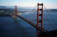 Golden Gate Bridge, San Francisco, California, Aerial view