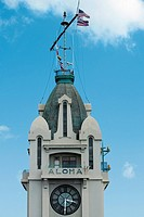 Low angle view of a building, Aloha Tower, Honolulu, Oahu, Hawaii Islands, USA