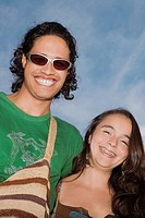 Portrait of a young couple smiling (thumbnail)