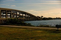 Bridge over a river, Cocoa Beach, Florida, USA