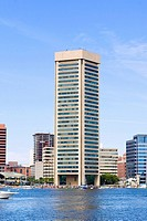 Buildings at the waterfront, World Trade Center, Inner Harbor, Baltimore, Maryland, USA