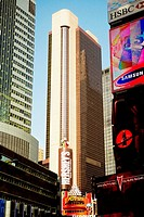 Low angle view of buildings in a city, Times Square, Manhattan, New York City, New York State, USA (thumbnail)