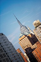 Low angle view of buildings, Empire State Building, Manhattan, New York City, New York State, USA