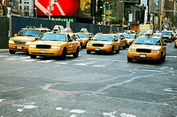 Cars on a road, Times Square, Manhattan, New York City, New York State, USA