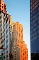 Low angle view of buildings, World Trade Center, Manhattan, New York City, New York State, USA