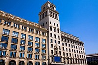 Low angle view of a building in a city, Barcelona, Spain
