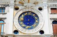 Low angle view of an astrological clock, St  Mark's Square, Venice, Italy
