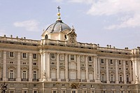 Facade of a palace, Madrid Royal Palace, Madrid, Spain